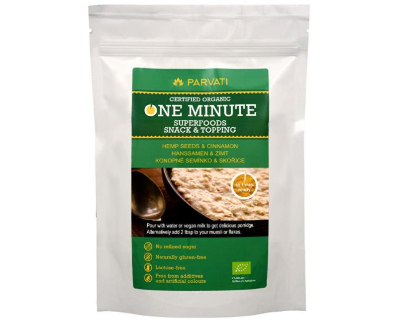 One Minute Superfoods snack & topping Konopné semienka A ŠKORICA 300 g
